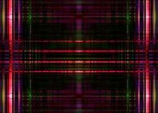 Tracce ruvide della luce rossa sul nero Fotografie Stock