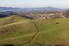 Tracce suburbane di California Fotografie Stock