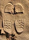 Tracce sulla sabbia Immagini Stock