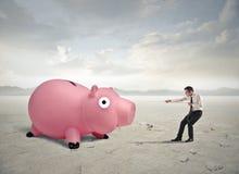 Tracción del dinero fotografía de archivo libre de regalías