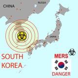 Tracci la diffusione di Mers Corona Virus Illustrazione di vettore Immagine Stock