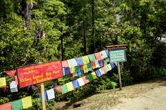 Traccia al nido Bhutan delle tigri Fotografie Stock