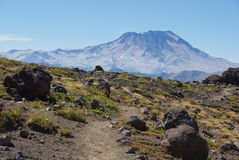 Traccia al vulcano Fotografie Stock Libere da Diritti