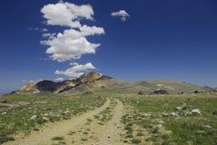 Traccia alla montagna bianca Fotografia Stock Libera da Diritti