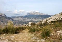 Traccia alla montagna - formato GREZZO Fotografie Stock
