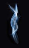 Traccia blu del fumo Fotografia Stock Libera da Diritti