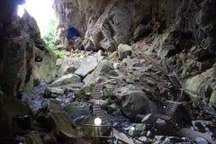 Traccia in caverna Fotografia Stock
