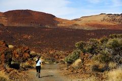Traccia che funziona su Tenerife Fotografia Stock Libera da Diritti