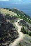 Traccia in cima ad una montagna Fotografie Stock Libere da Diritti