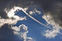 Traccia dall'aereo fotografie stock