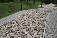 Traccia decorativa delle pietre Fotografie Stock Libere da Diritti
