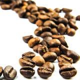 Traccia dei fagioli di Cofee Immagini Stock Libere da Diritti