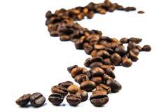 Traccia dei fagioli di Cofee Immagine Stock