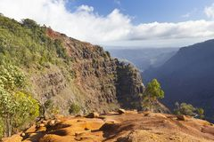 Traccia del canyon di Waimea, Kauai Immagini Stock