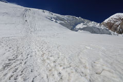 Traccia del ghiacciaio Immagine Stock