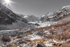 Traccia del ghiacciaio di Morteratsch Immagini Stock Libere da Diritti