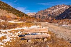 Traccia del ghiacciaio di Morteratsch Fotografia Stock Libera da Diritti
