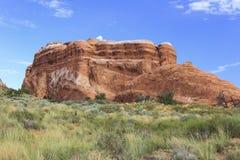 Traccia del giardino dei diavoli, arché parco nazionale, Utah fotografia stock libera da diritti