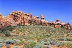 Traccia del giardino dei diavoli, arché parco nazionale, Utah immagine stock libera da diritti