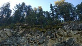 Traccia del lato di banff della montagna del tunnel Immagini Stock