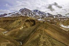 Traccia del ridgetop di Kerlingarfjoll Immagini Stock