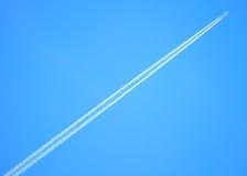 Traccia del vapore del jet Fotografie Stock