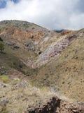 Traccia della baia della primavera in Saba Immagine Stock