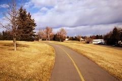Traccia della bici a Calgary fotografia stock libera da diritti