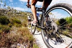Traccia della bici di montagna Fotografie Stock