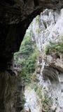 Traccia della grotta del sorso di Taroko Fotografie Stock Libere da Diritti