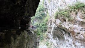 Traccia della grotta del sorso di Taroko Fotografia Stock