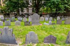 Traccia della libertà di Boston con la Chapel & la terra seppellente di re Fotografia Stock Libera da Diritti