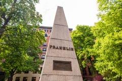 Traccia della libertà di Boston con la terra seppellente del granaio Fotografia Stock