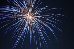 Traccia della luce dei fuochi d'artificio di Diwali immagini stock