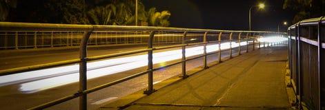 Traccia della luce del ponte Immagini Stock Libere da Diritti