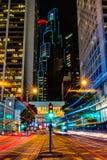 Traccia della luce di Hong Kong immagini stock