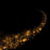 Traccia della polvere di stelle e fondo brillanti del bokeh Estratto di magia Fotografia Stock Libera da Diritti