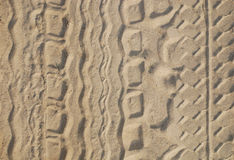 traccia della sabbia Fotografia Stock Libera da Diritti