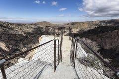 Traccia della sedia dei diavoli nella contea di Los Angeles California fotografie stock libere da diritti