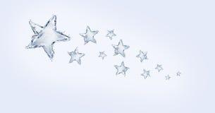 Traccia della stella dell'acqua Fotografie Stock Libere da Diritti