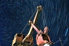 Traccia della stella di Koktokay in Xinjiang nordico fotografia stock