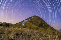 Traccia della stella e della montagna Fotografie Stock