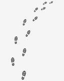 Traccia delle stampe delle scarpe Immagini Stock