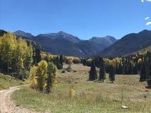 Traccia di Colorado Immagine Stock