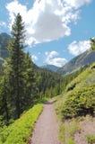 Traccia di escursione alpina Immagini Stock