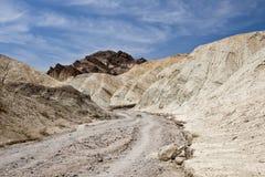 Traccia di escursione in Death Valley Immagine Stock