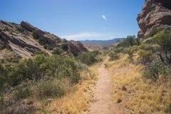 Traccia di escursione del deserto Fotografia Stock Libera da Diritti