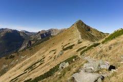 Traccia di escursione della montagna in Tatras occidentale Fotografia Stock Libera da Diritti