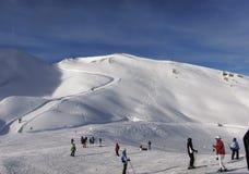 Traccia di escursione di inverno Fotografia Stock