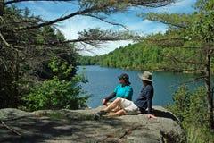 Traccia di escursione di Dunder della roccia, Lyndhurst, Ontario, Canada fotografie stock